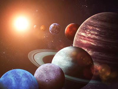 Planetenkonstellation im Universum