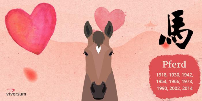 Chinesisches Tierkreiszeichen Pferd