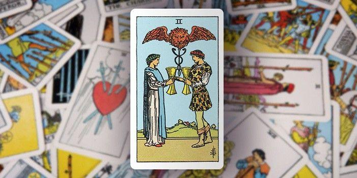 Tarot - Zwei der Kelche
