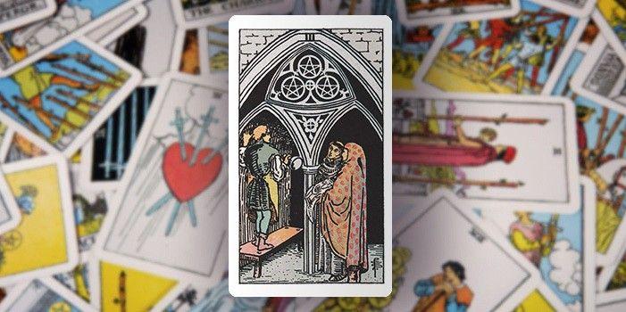 Tarot - Drei der Münzen