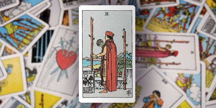 Tarot - Zwei der Stäbe