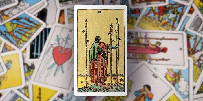 Tarot - Drei der Stäbe