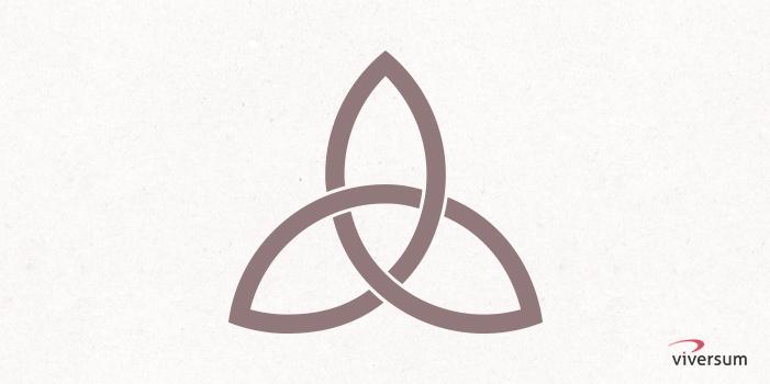 Keltisches Symbol Triquetra