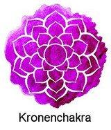 Kronenchakra / Sahasrara / Scheitelchakra (einige Zentimeter über dem Kopf / Scheitelpunkt)